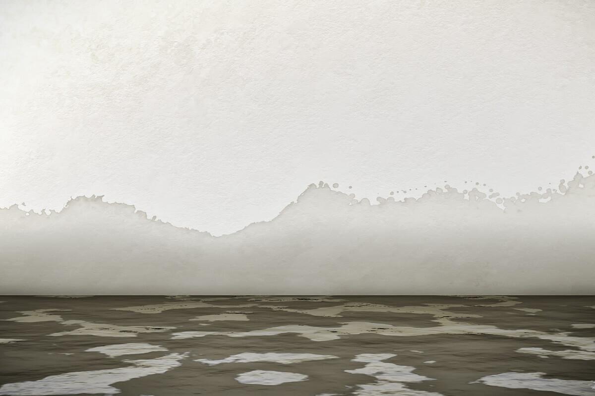 zniszczona ściana po zalaniu - nagrzewnice białystok