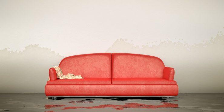 zalana sofa w mieszkaniu Warszawa