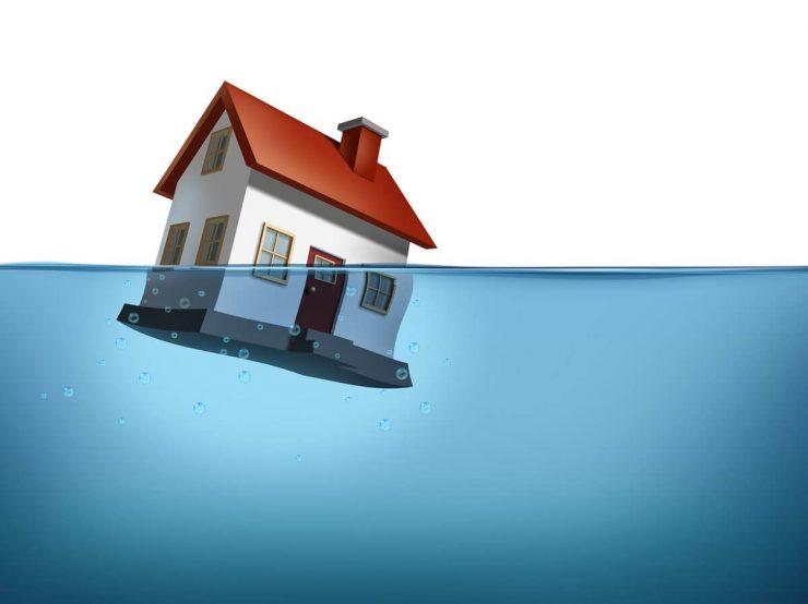 obrazek przedstawiający zalany dom jednorodzinny