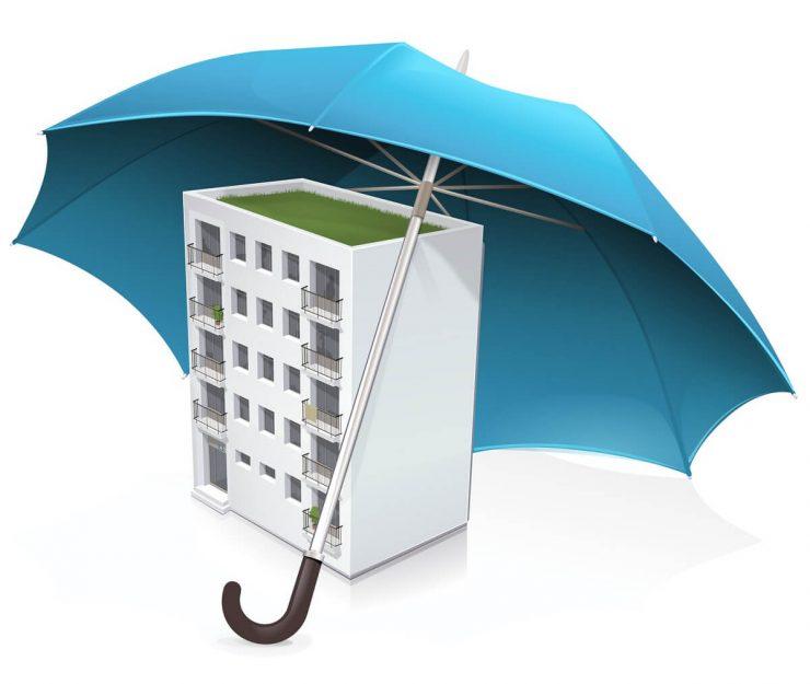 budynek mieszkalny okryty parasolem